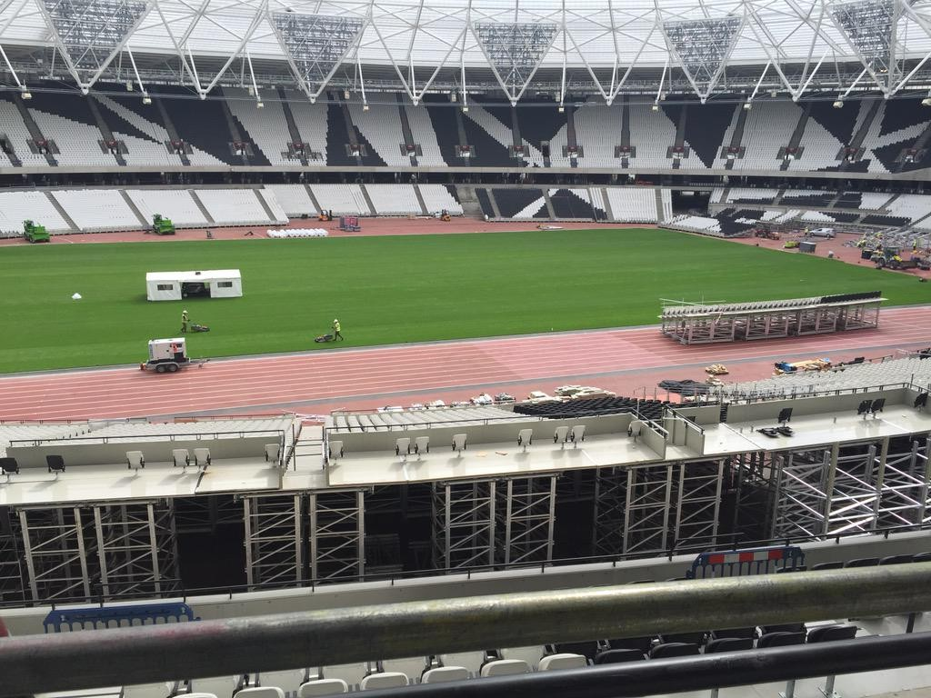 Image result for converting Olympic Stadium retractable seating