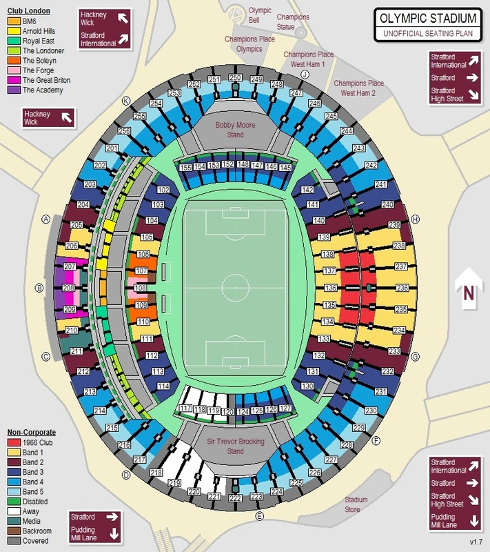 Image result for london stadium hospitality seating plan